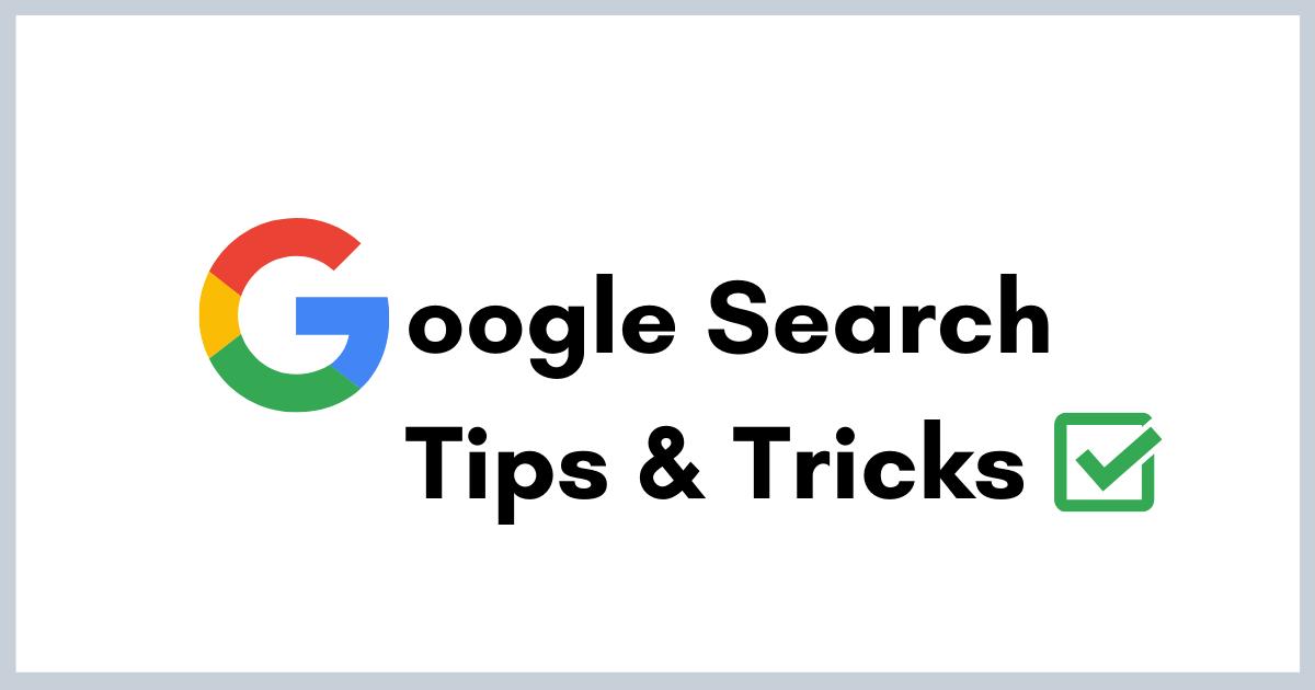 Google Search Tips, Advanced search operators